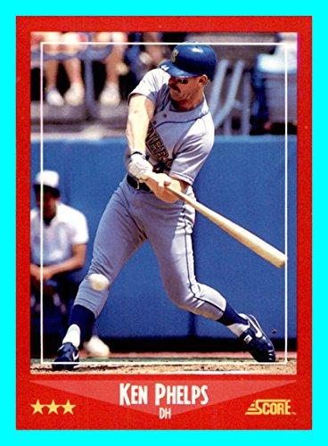 1988 Score #256 Ken Phelps SEATTLE MARINERS (Box109c)