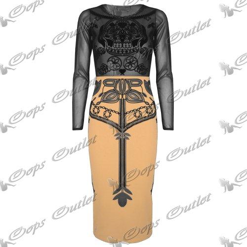 Pure Fashion Damen Long Sleeve Peach Small