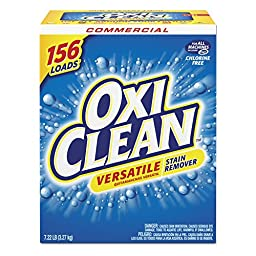 OxiClean CDC 57037-51791CT Versatile Stain Remover, Regular Scent, 7.22 lb. Box (Pack of 4)