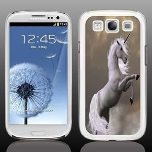 Samsung Galaxy S3 Case - Fantasy - Unicorn - White Protective Hard Case