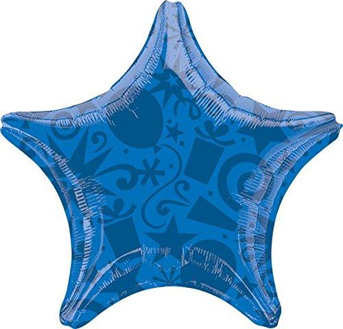Festive Blue Foil Balloon 22, Anagram 29669 Star