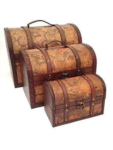 Ordinaire Treasure Chest Vintage Colonial Map Atlas Design Storage Trunk Wedding Post  Box