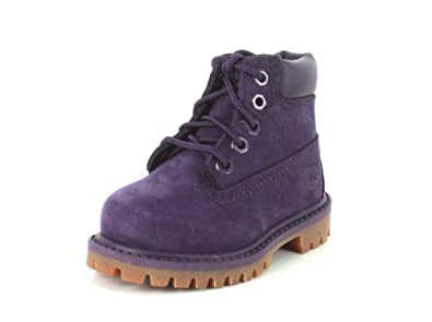 Timberland Kids Girl s 6 quot  Classic Boot (Little Kid) Purple Nubuck Boot  1 Little 4d3712c7e