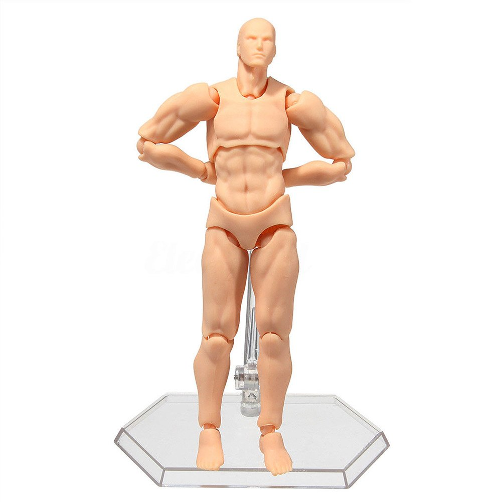 StarALL Body Kun Body Chan DX Set for Drawing Human Mannequin Male Female Action Figure Model for SHF Sketching Painting Cartoon Kids Gift Artist Collection