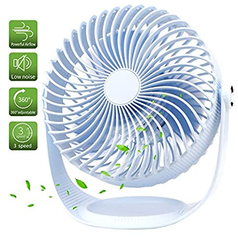 - 51x8WTX30pL - OYRGCIK Air Circulator Fan, Quiet Table Fan with Build-in Rechargeable 2000mAh Battery Small USB Personal Desk Fan 360° Rotatable Handheld Fan w/ 3 Speeds for Home Office Outdoor Camping Travel, Blue