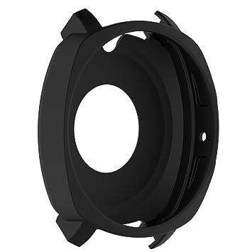 LOKEKE - Carcasa de Silicona para Samsung Gear Sport (SM-R600), Color Negro