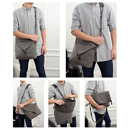 Beige Unisex Body Shoulder Men's Hobo Bags Canvas School Bag Cross Satchel VRIKOO Vintage Messenger vxqOAB