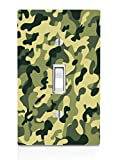 camouflage wall decals - Decal Sticker Abstract Camouflage Pattern Different Colors Printed Design Light Switch Plate