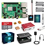 LABISTS Raspberry Pi 4 Starter Kit with Pi 4 Model B 4GB RAM Board, 32GB Micro SD Card Preloaded Raspbian, 5V 3A Power Supply with ON/OFF Switch, Case, HDMI Cable, SD Card Reader, Cooling Fan, Heatsinks