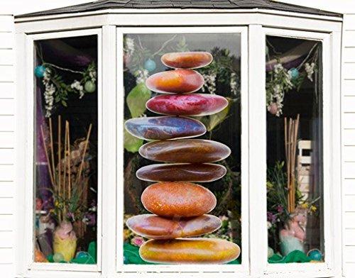 Apalis Fenstersticker Fensterfolie Steinbalance Fensterbilder HxB  135 x 75cm B00V10L37M Fensterbilder