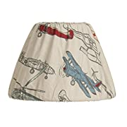 Glenna Jean Fly-By Lamp Shade Only, Airplane, 9  x 12