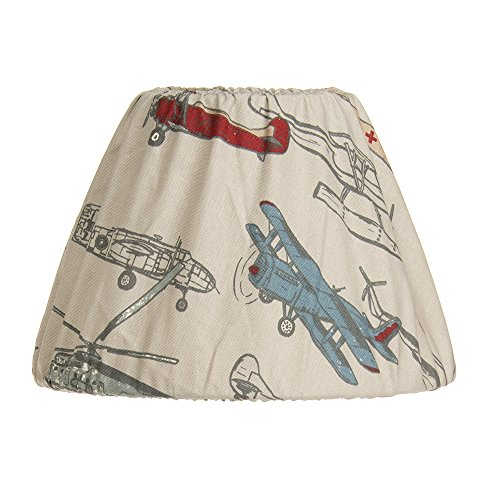 "Glenna Jean Fly-by Lamp Shade Only, Airplane, 9"" x 12"" from Glenna Jean"