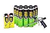 Dow GREAT STUFF PRO Pestblock Foam Kit 12-20 oz cans with AWF Pro Foam Gun and Gun Cleaner