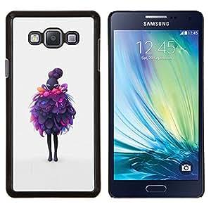 Jordan Colourful Shop - Purple Layers For Samsung Galaxy A7 Personalizado negro cubierta de la caja de pl????stico