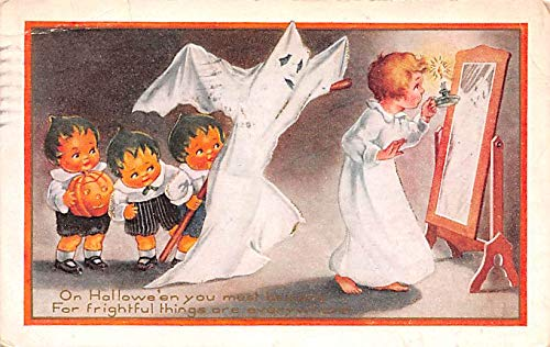Halloween Post Card Old Vintage Antique Whitney Made Publishing 1920 ()