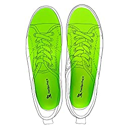 Plantar Fasciitis Insoles, Orthotic Insoles, Relief from Heel and Foot Pain, FootSpa Pro Supports the arch and Heel, Provides Extreme Comfort, Suitable For Most Foot (8 - 11 - Men, Green)