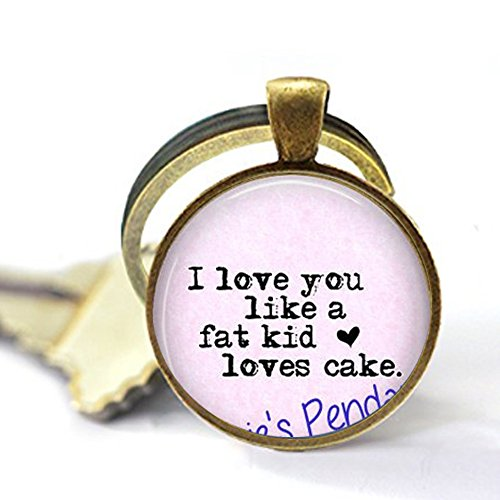 I Love You Like a Fat Kids Loves Cake - Funny Love Quote Gift - Love Keychain