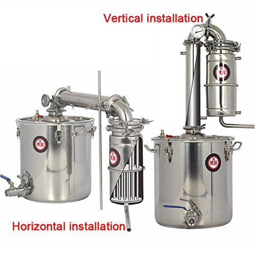 30 L/8Gallon Stainless Moonshine Still Wine Making Kits Household Alcohol Whisky Brandy Distiller Home Water Distilling Essential Oil Brew Sets