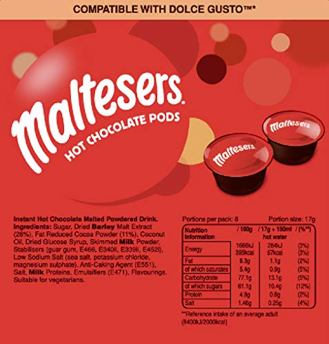 Maltesers Hot Chocolate Dolce Gusto Compatible Pods 8's