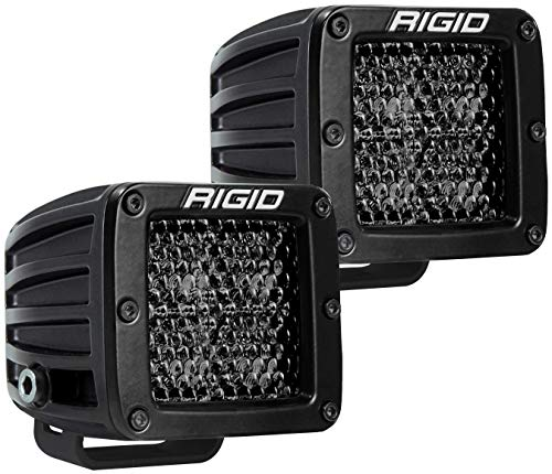 (RIGID 202513BLK D-SERIES PRO Diffused Pair Midnight Surface Mount LED Lights (Set of 2), 202513BLK)