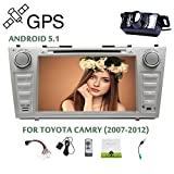 Eincar Car DVD GPS RADIO Player Andriod 5.1 OS for TOYOTA CAMRY (2007-2012) 8 Inch Free Map Navigation Mp3 Player Canbus Bluetooth HeadUnit FM/AM /OBD/Mirror-link car radio+Backup Camera