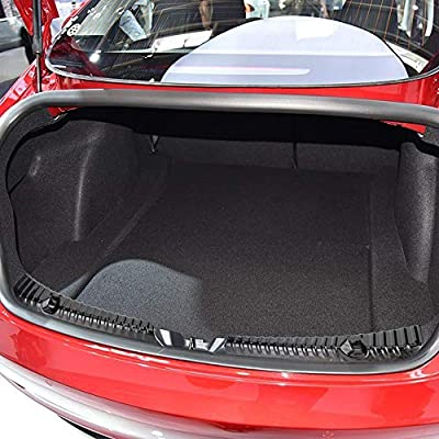 BASENOR Tesla Model 3 Rear Trunk Bumper Protector Guard Stainless Steel Black Titanium: Automotive