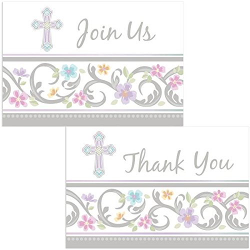Blessed Day Party Supplies (Blessed Day Invite and Thank You Cards) -
