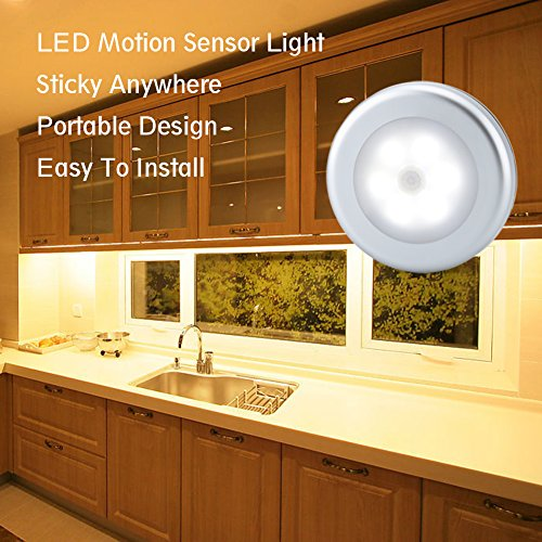 URPOWER Motion Sensor Closet Light, Motion-sensing Battery Powered LED Stick-Anywhere Nightlight,Wall Light for Entrance,Hallway,Basement,Garage,Bathroom,Cabinet,Closet by URPOWER (Image #4)