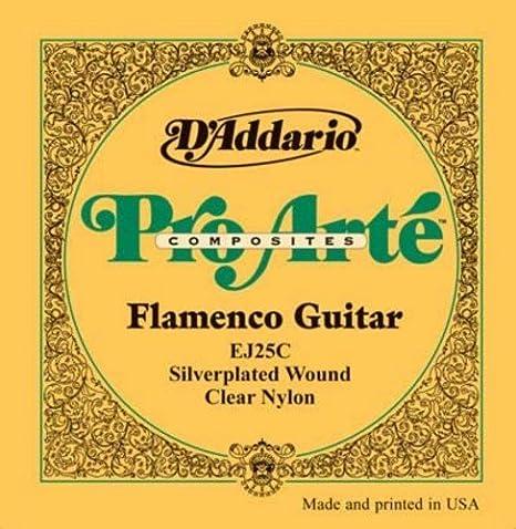 CUERDAS GUITARRA FLAMENCA - DŽAddario (EJ25C) Clear Nylon (Juego ...