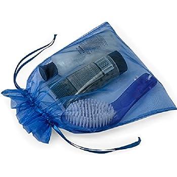 Amazon.com: Grandes bolsas de organza 10 Azul 8 x 11 Sheer ...