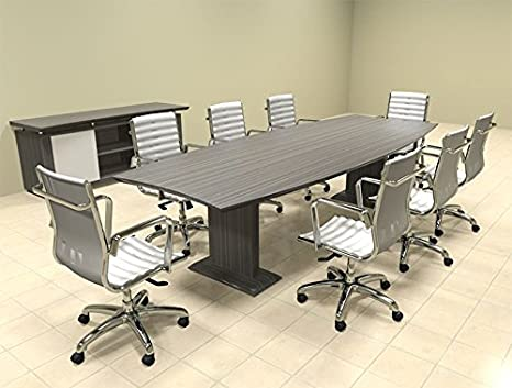 Modern Contemporary Boat Shaped 10' Feet Conference Table, #MT-STE-C7