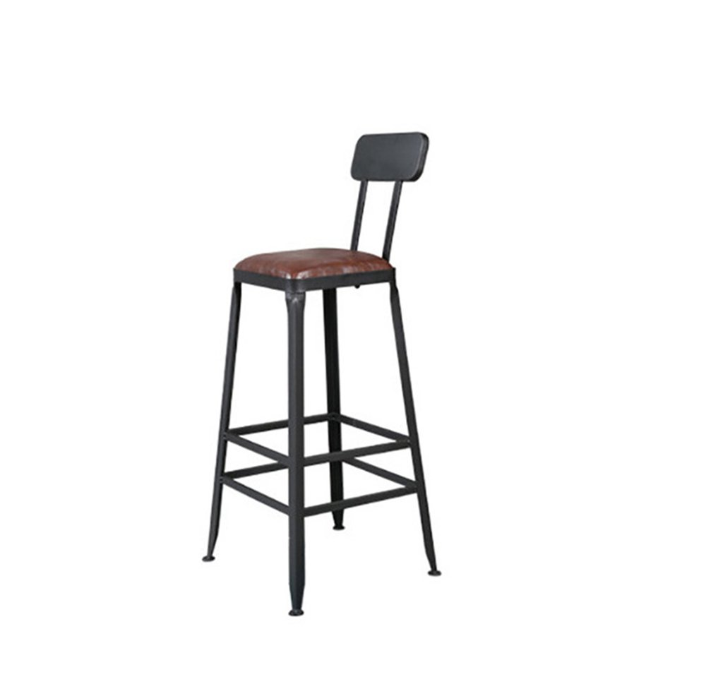 Iron high stool / retro high chair / bar chair / home chair stool ( Size : 424265CM , Style : Sponge ) by Xin-stool