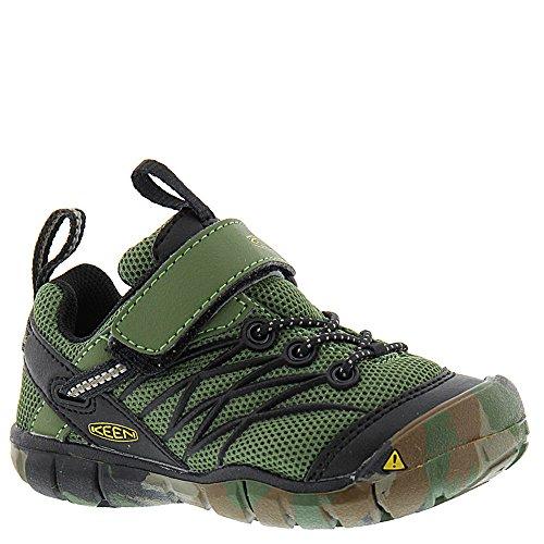 Bronze Baby Shoe (KEEN Baby Chandler CNX Flat, Crushed Bronze/Green, 8 Toddler US Toddler)