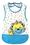 Aulase Unisex Toddler Baby Waterproof Smock Apron Bib Sleeveless Overclothes Blue 18-36M