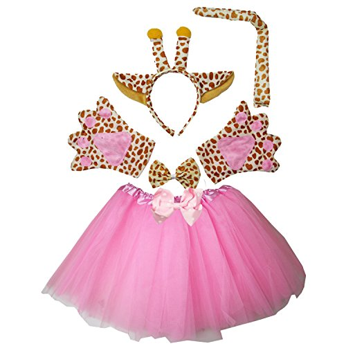 Giraffe Tutu Costumes (Kirei Sui Kids Giraffe Costume Tutu Set Pink)