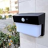 AOKOALA the new solar light led induction control energy saving wall lamp ABS high-end villa home outdoor garden lights, black
