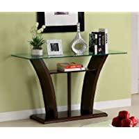 Delia Contemporary Dark Cherry Finish Sofa Table