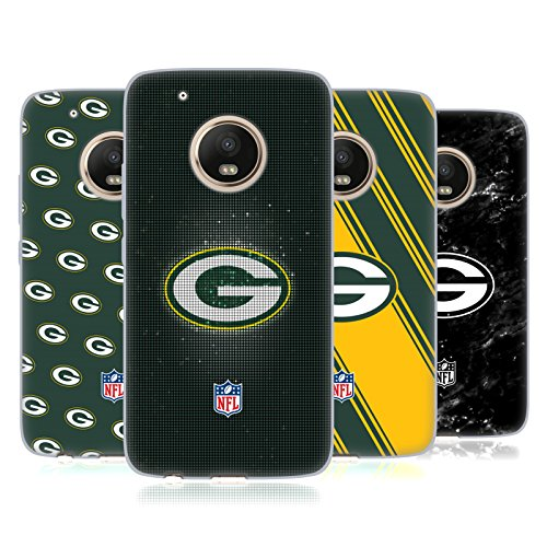 Official NFL 2017/18 Green Bay Packers Soft Gel Case for Motorola Moto G5 Plus by Head Case Designs