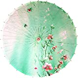 Oriental Decor 32 inch Seagreen Blossoms Umbrella