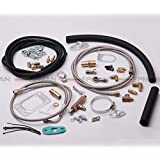 T3T4 T3 T4 T70 T04S T04Z T4E Turbo Oil Line Inlet Drain Return Complete Kit