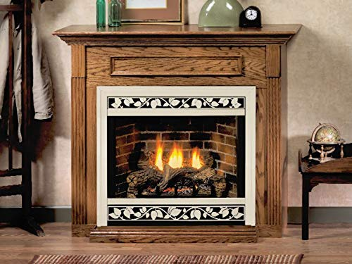Empire EMBC3SDO Standard Corner Cabinet Mantel with Base - Dark Oak