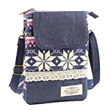 Summer Clearance Big Sale for Back to School Supply-Cross Body Cell Phone Shoulder Pouch Bag for iPhone 7 6S 6 SE, Welegant Retro Bohemia Mini Smartphone Clutch Wallet Purse (Style A, Purple)