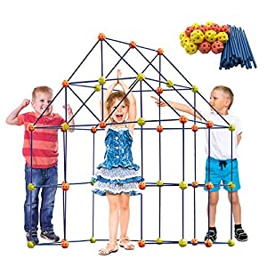 Best Epic Trends 51x8bNgju0L._SS300_ ERONE Fort Building Kit for Kids,158pcs Forts Construction Builder Gift Toys for Boys and Girls,Fort Building Set Play…