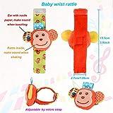 SSK Soft Baby Wrist Rattle Foot Finder Socks