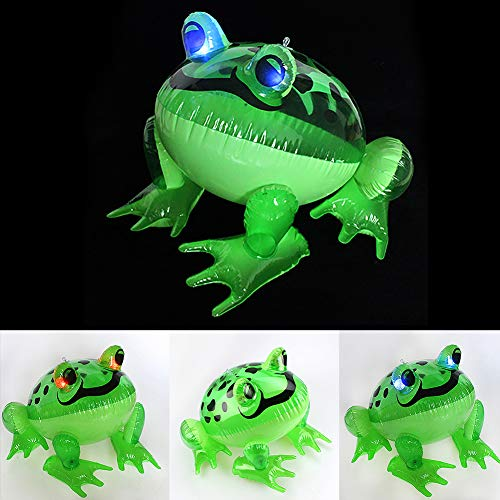 LeSharp Inflatable Frog Toy, Inflatable Shinning Eyes Cartoon Frog Model Children Toy Festival Party Decor ()