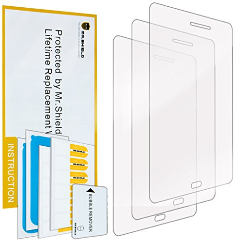 Mr Shield For Samsung Galaxy Tab A 8.0 Inch Premium Clear Screen Protector [3-PACK] with Lifetime Replacement (Samsung Tablet 3 8 Cases)