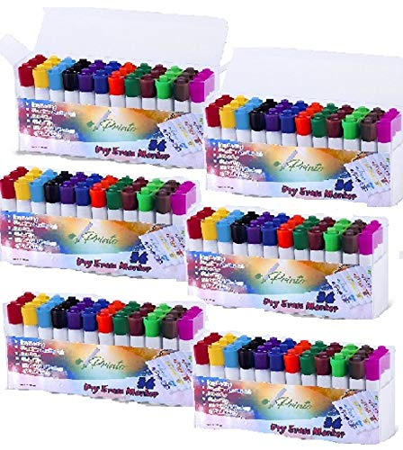 Dry Erase Whiteboard Marker, 12 Unique Colors, Chisel Tip, Low Odor,Vivid Lines (216 Count Jumbo Package) by Printo (Image #1)