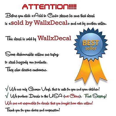 Girl Name Wall Decal Ballerina Dancing Nursery Ballet Dance Vinyl Decals Sticker Custom Decals Personalized Girls Bedroom Decor Room x271: Home & Kitchen