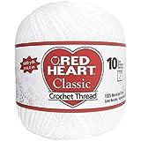 Coats Crochet & Floss Red Heart Classic Crochet, Thread Size 10