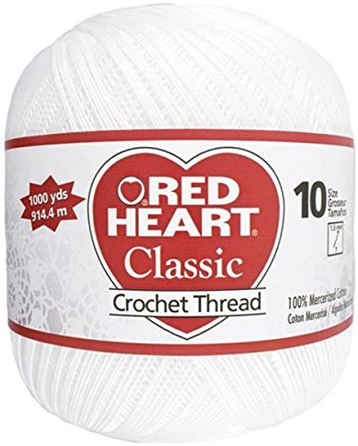 Crochet Doily Thread (Coats Crochet Red Heart Classic Crochet, Thread Size 10)